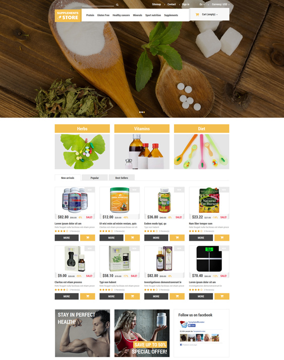 nutrition medical prestashop themes 1