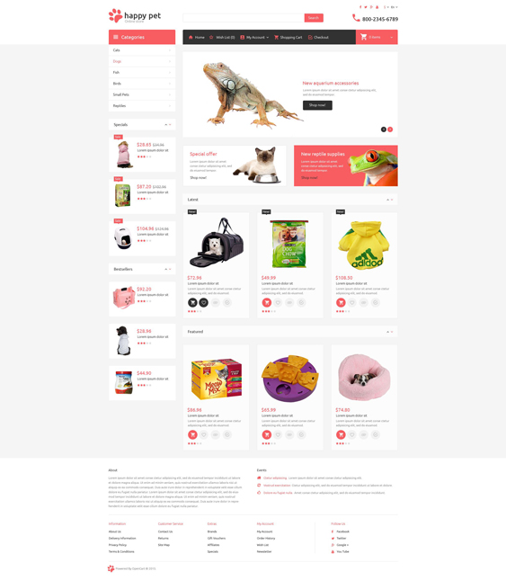 pets opencart themes