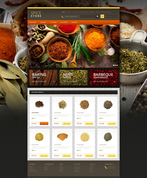 responsive food drink restaurant opencart themes