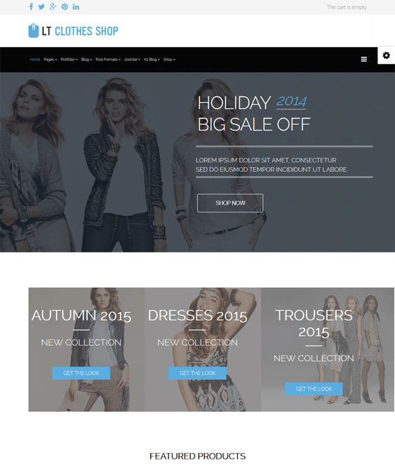 responsive clothes hikashop themes