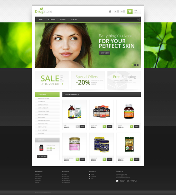 responsive drugstore medical prestashop themes