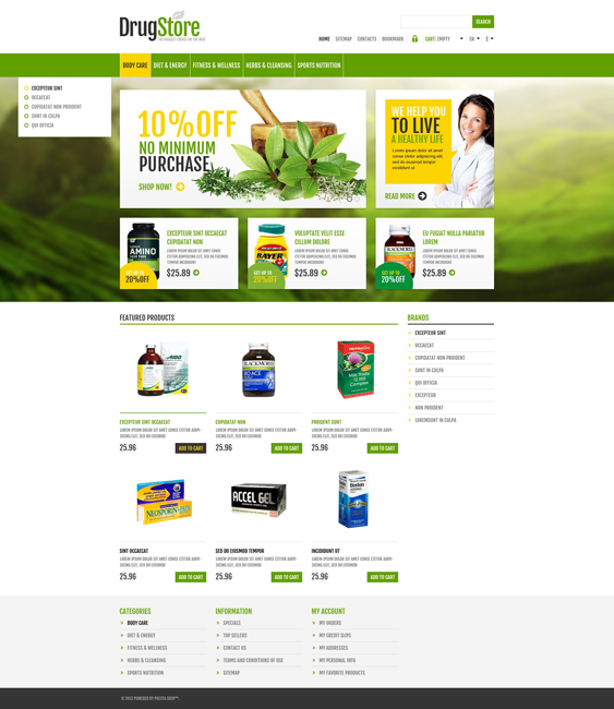 responsive drugstore medical prestashop themes 1