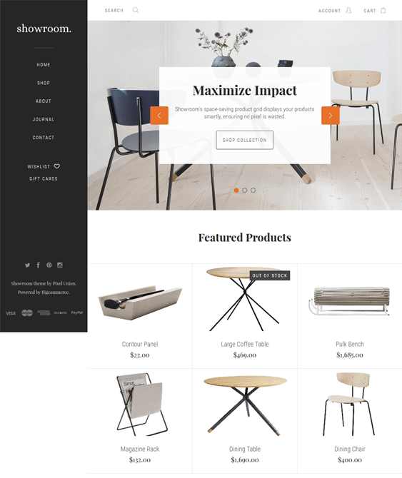 showroom bigcommerce themes home decor furniture
