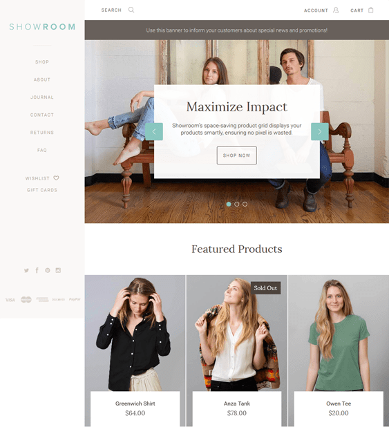 showroom organic clothing bigcommerce themes