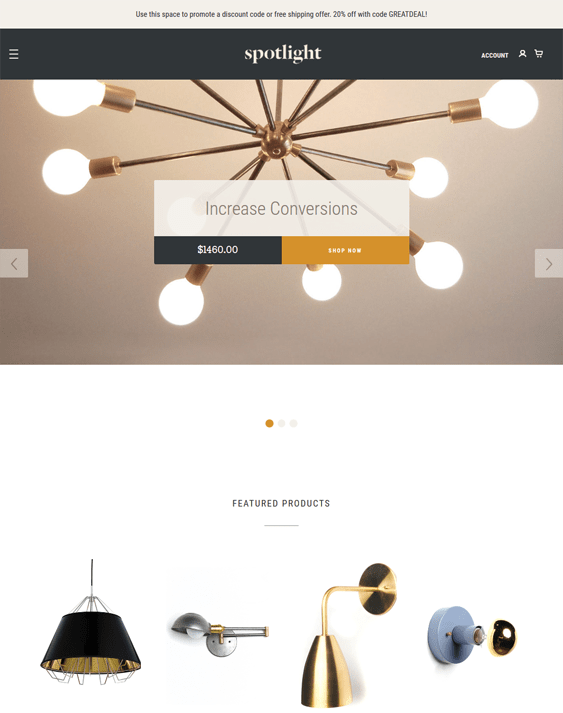 spotlight bigcommerce themes home decor furniture