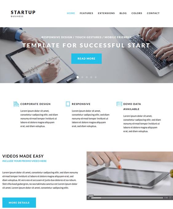 startup clean joomla templates