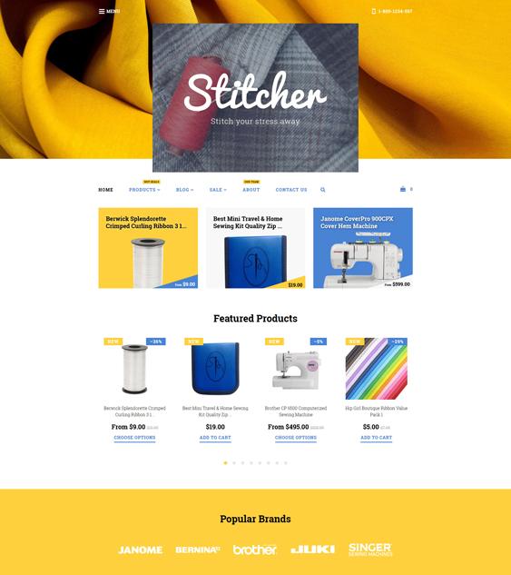 stitcher minimal shopify themes