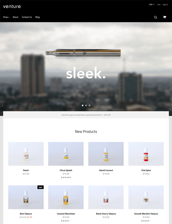 venture clean bigcommerce themes