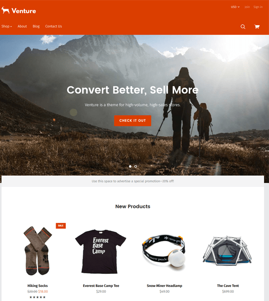 venture bright clean bigcommerce themes