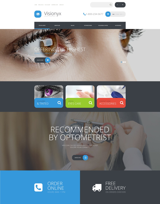 visionyx medical health opencart themes