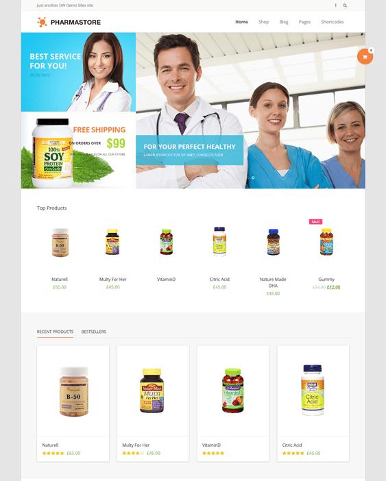 dw pharmastore medical wordpress themes