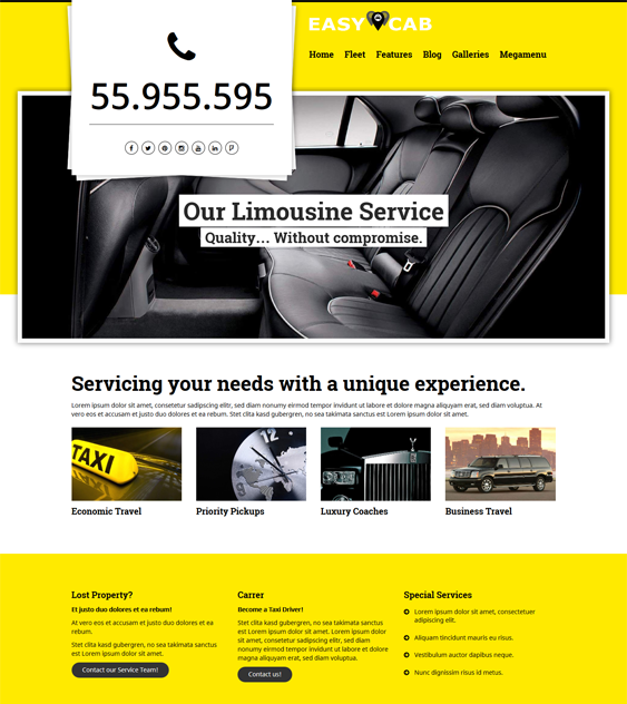 easycab car vehicle automotive wordpress themes