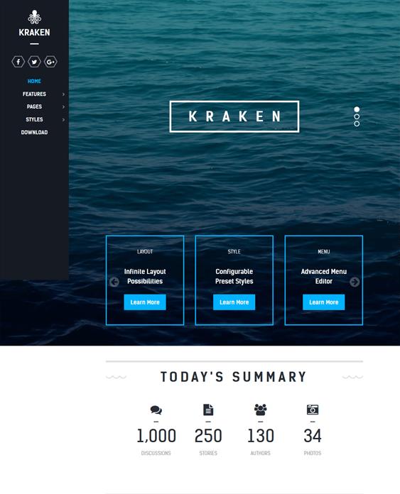 kraken clean joomla templates