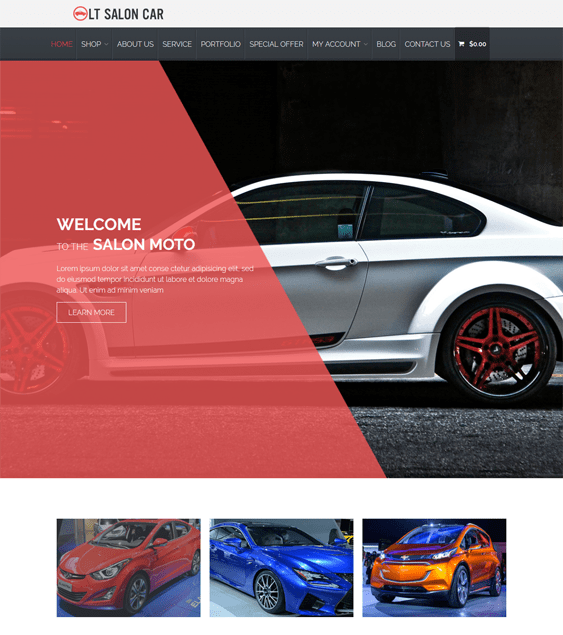lt salon car vehicle automotive wordpress themes