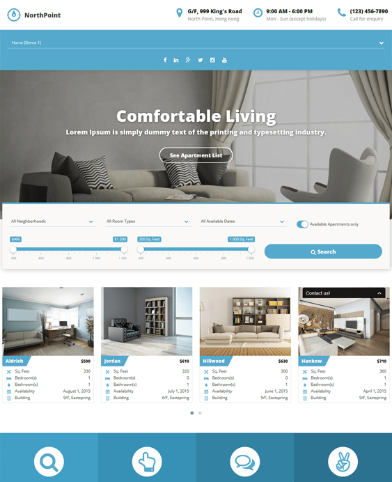 northpoint real estate wordpress themes