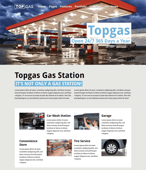 topgas car vehicle automotive wordpress themes