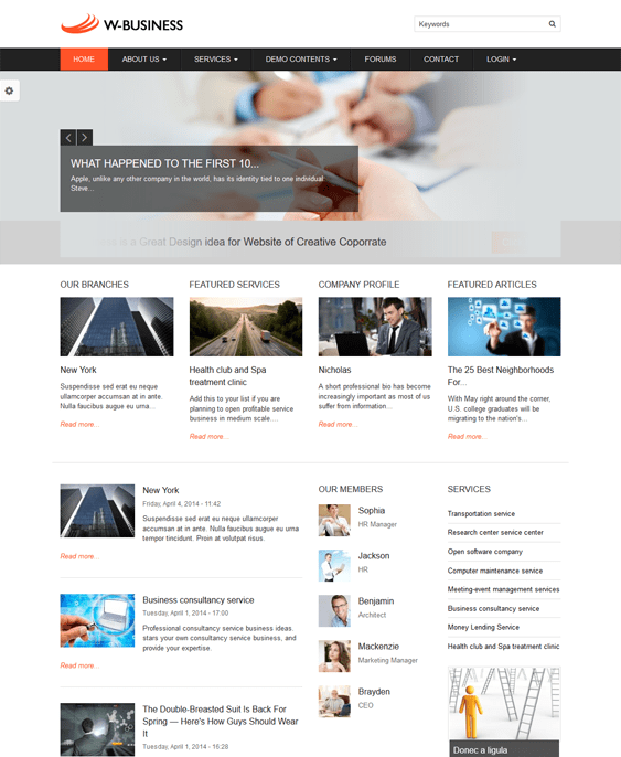 business business drupal themes