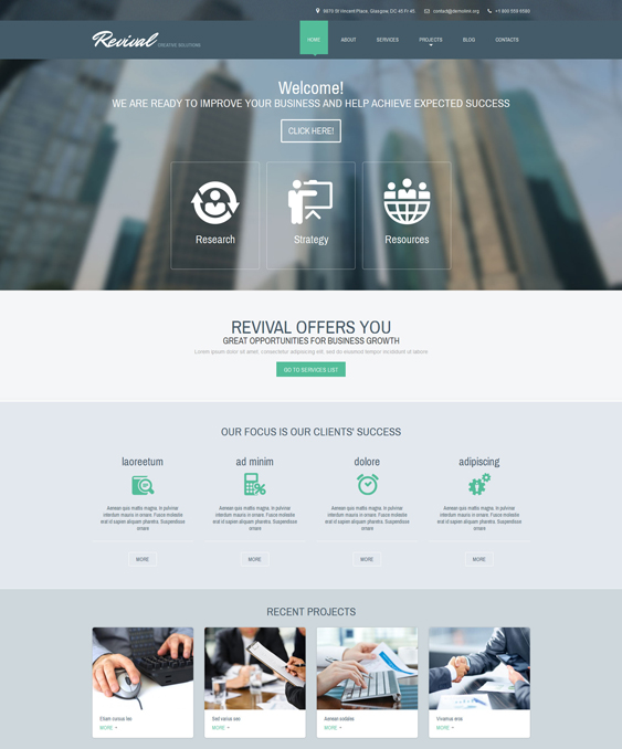 business drupal themes responsive