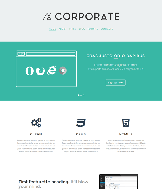 corporate business drupal themes
