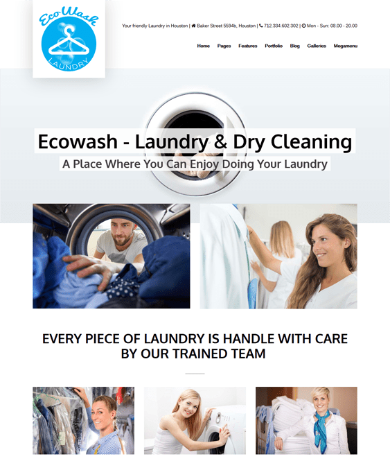 ecowash cleaning company wordpress themes