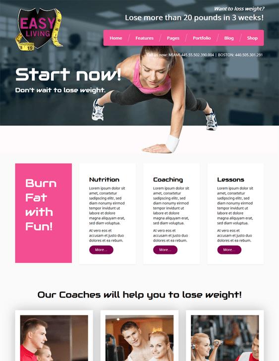 meet easyliving gym fitness wordpress themes