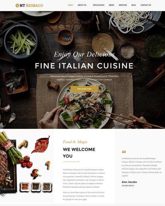 nt rebasco restaurant wordpress themes