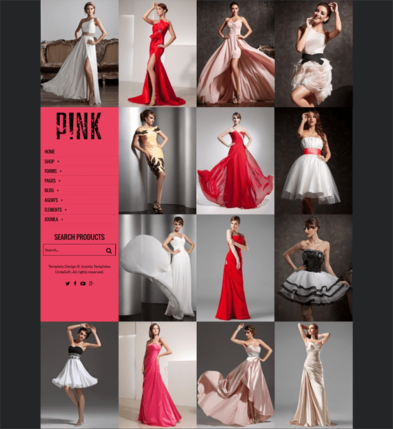pink virtuemart themes