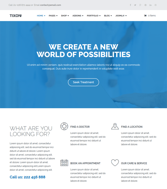 tixon medical joomla templates