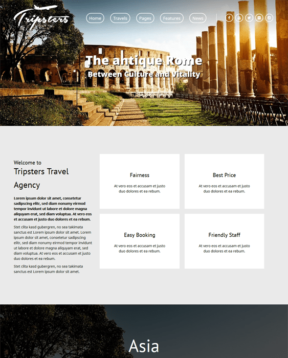 tripsters travel wordpress themes