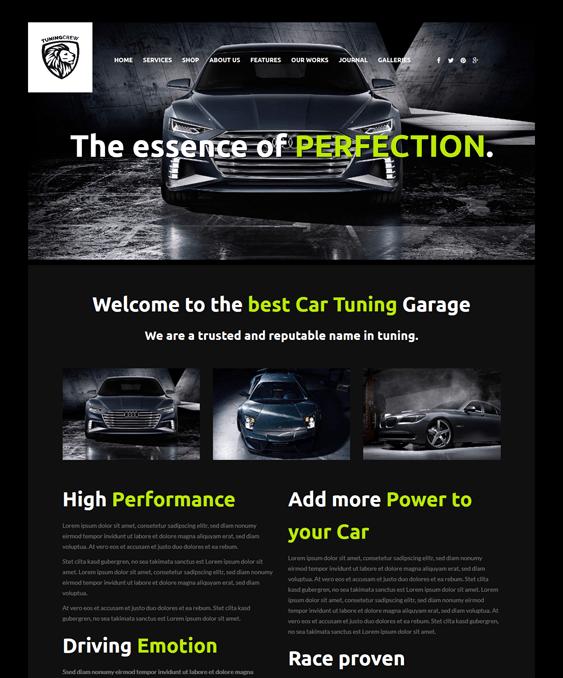 tuningcrew car vehicle automotive wordpress themes