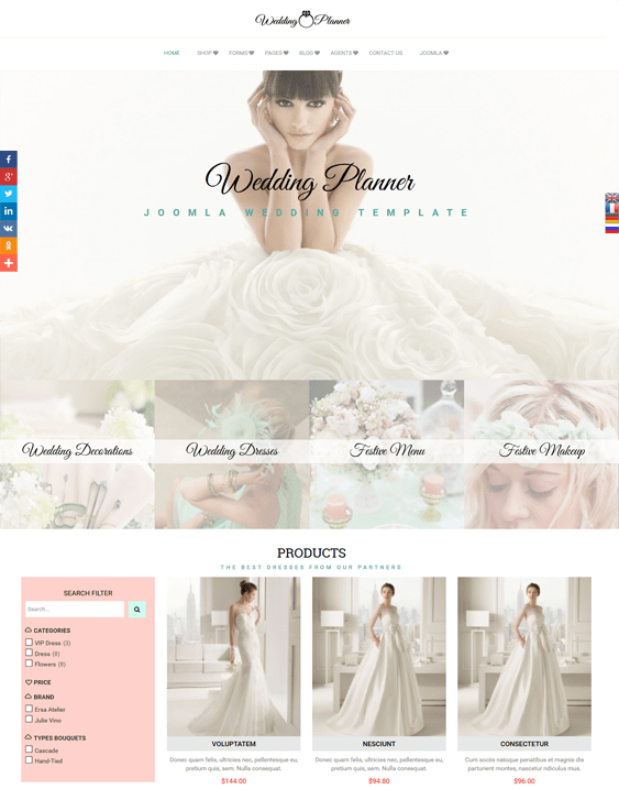 wedding planner virtuemart themes