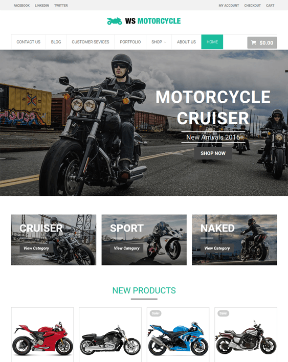 ws motorcycle car vehicle automotive wordpress themes