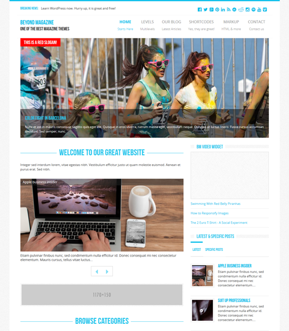 beyond magazine news wordpress themes