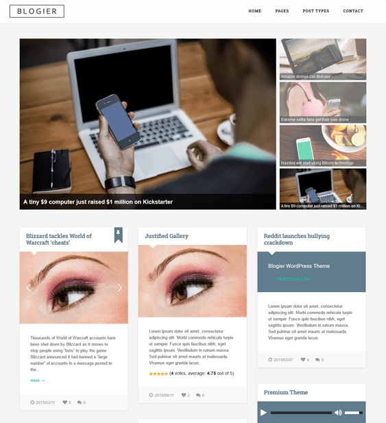 blogier magazine news wordpress themes