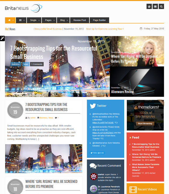 britanews magazine news wordpress themes