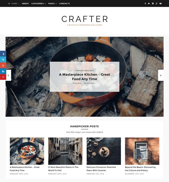 crafter magazine news wordpress themes