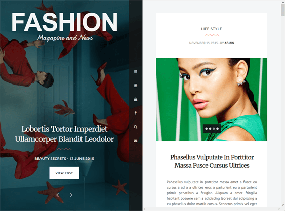 fashion magazine news wordpress themes