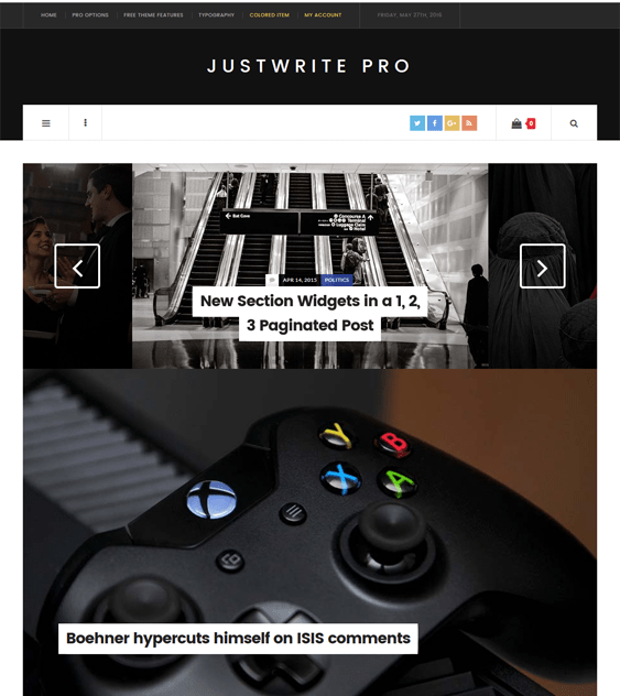 justwrite magazine news wordpress themes