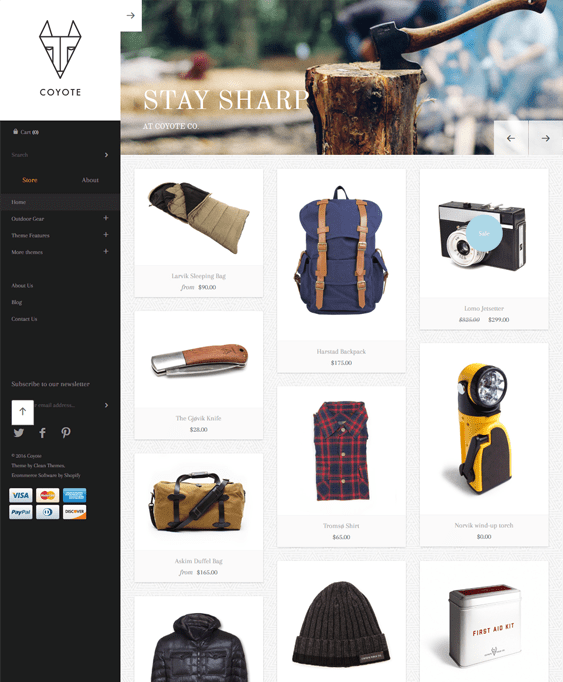 masonry shopify themes outdoor goods camping equipment
