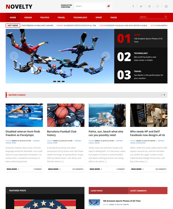 novelty magazine news wordpress themes