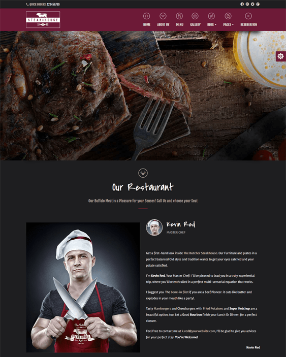 steakhouse dark wordpress themes