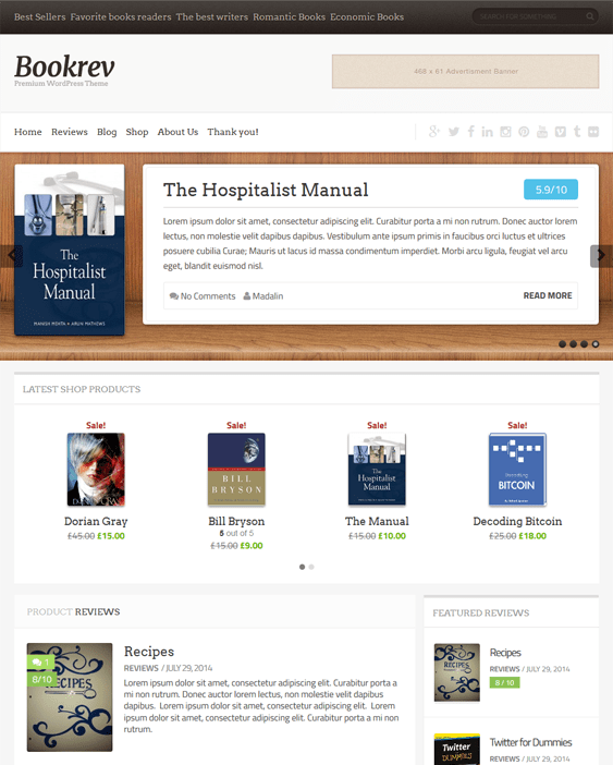 bookrev book wordpress themes