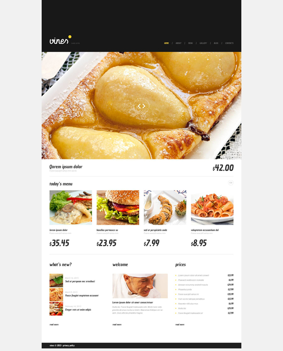 cafe restaurant wordpress themes