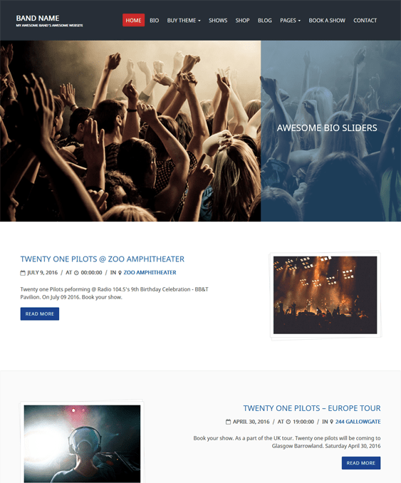 charity events wordpress themes