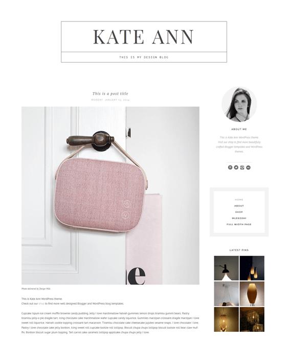 editorial fashion blog wordpress themes