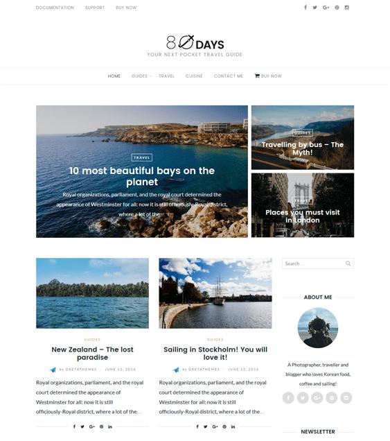 eightydays travel wordpress themes