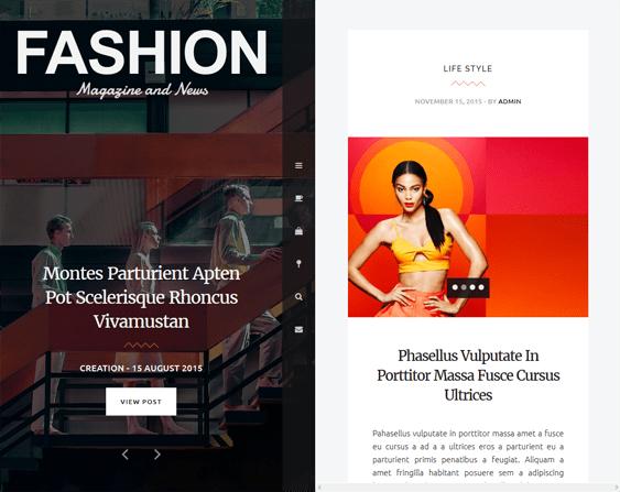 fashion blog wordpress themes