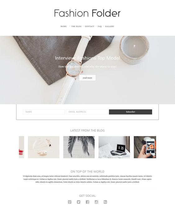 fashion blog wordpress themes folder