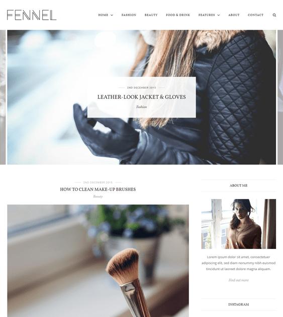 fennel fashion blog wordpress themes