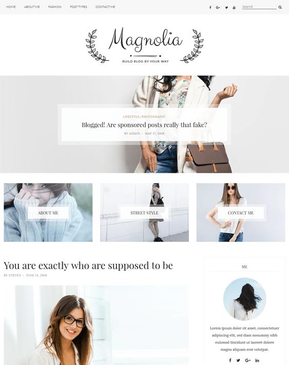 magnolia fashion blog wordpress themes